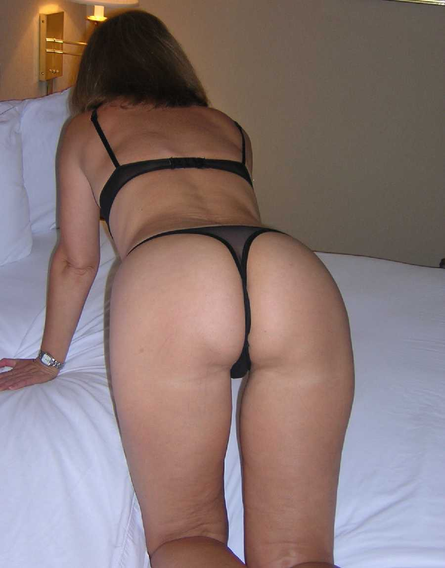 Nice milf black thong